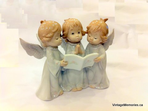 Adorable Group of Angels Figurine