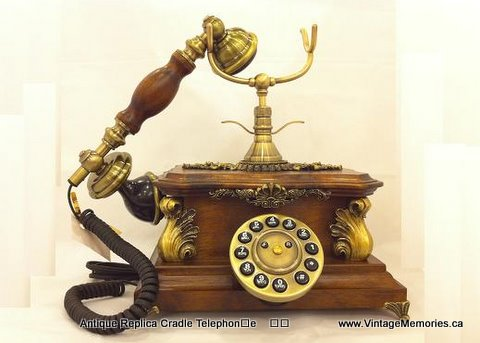 Antique Replica Cradle Telephone-