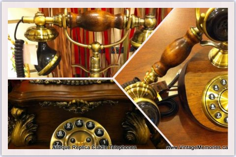 Antique Replica Cradle Telephone