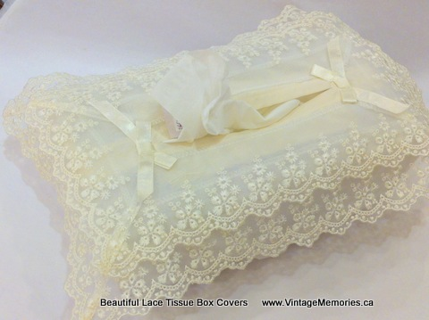 Beautiful Lace Tissue Box Covers