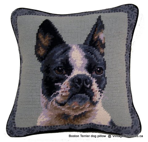 Boston Terrier dog pillow-1