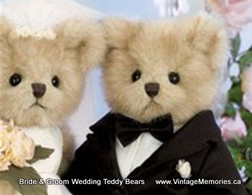 Bride Groom wedding teddy bears