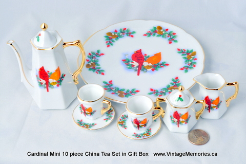Cardinal Mini 10 piece China Tea Set in Gift Box