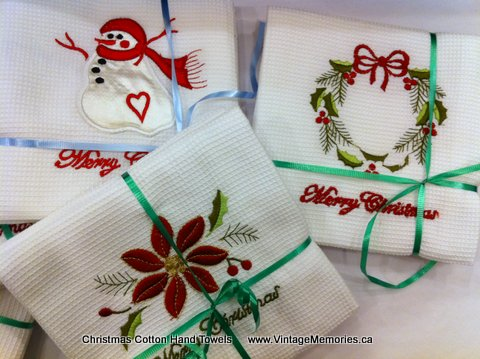Christmas Cotton Hand Towels