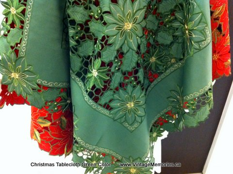 Christmas Tablecloth Green Color