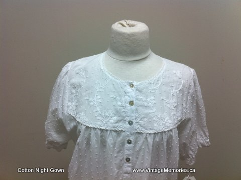 Cotton night gown