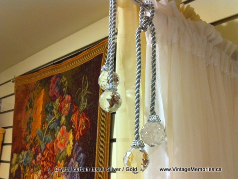Crystal curtain tassel Silver Gold