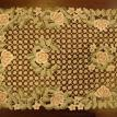 Embroidery floral pattern runner