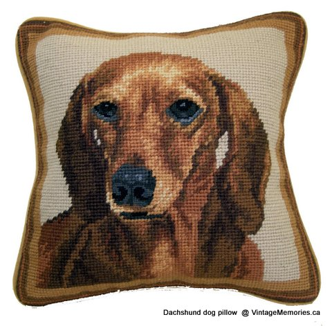 Dachshund dog pillow