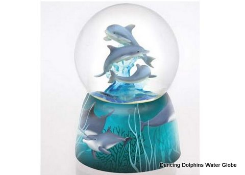 Dancing dolphins water globe