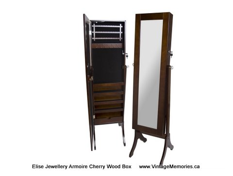 Elise Jewellery Armoire Cherry Wood Box