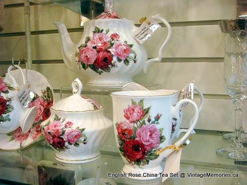 English_Rose_China Tea_set