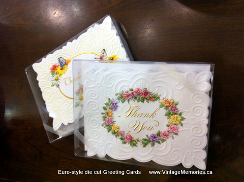 Euro-style die cut Greeting Cards