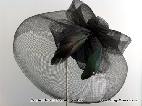 Evening Feather hat-b1