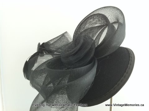Evening Feather top hat