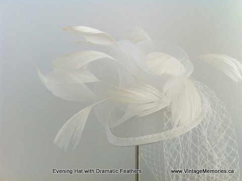 Evening Feather hat-w1