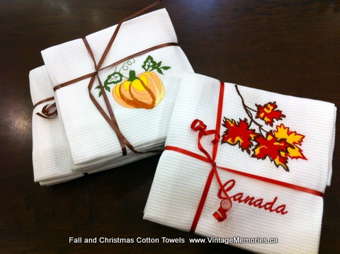 Canada maple leaf Cotton_Towels