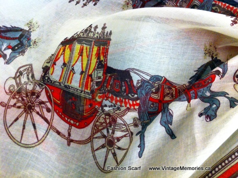 Fashion Horse Carriage Scarf
