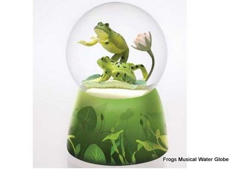 Frogs musical water globe