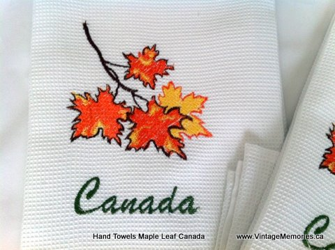 Cotton Hand Towels with Maple leaf Canada