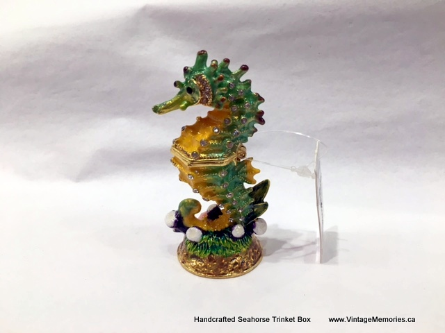 Handcrafted Seahorse Trinket Box