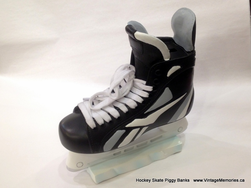 Hockey Skate Piggy Bank BW