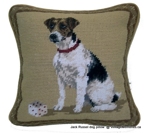 Jack Russel dog pillow-1