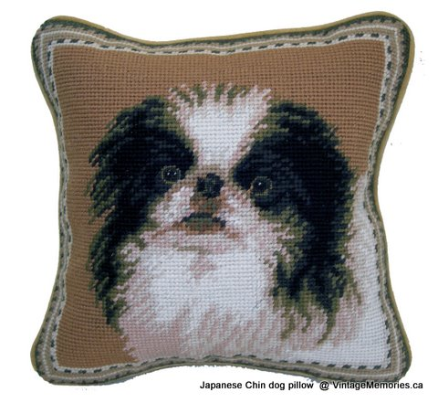 Japanese Chin dog pillow