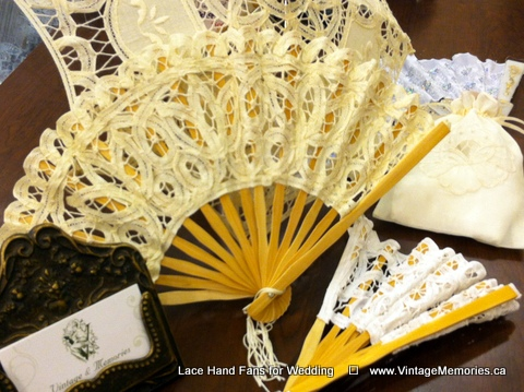 Lace Hand Fans for Wedding