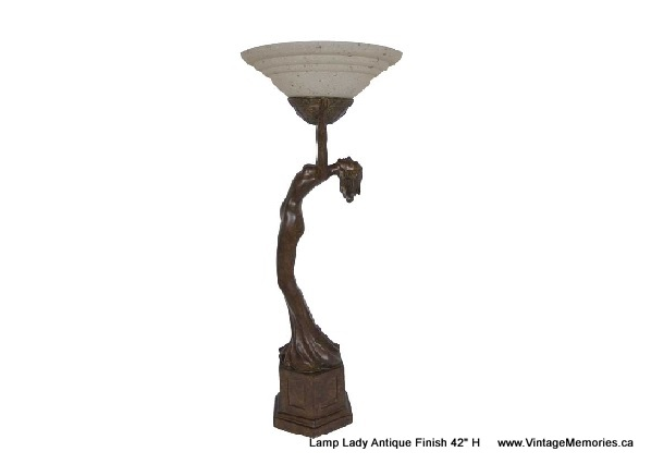 Lamp Lady Antique Finish