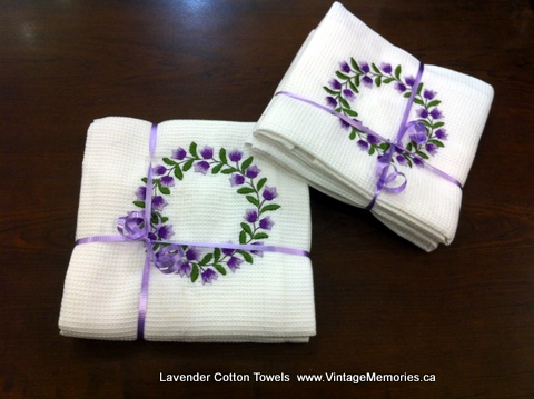 Lavender Cotton Towels