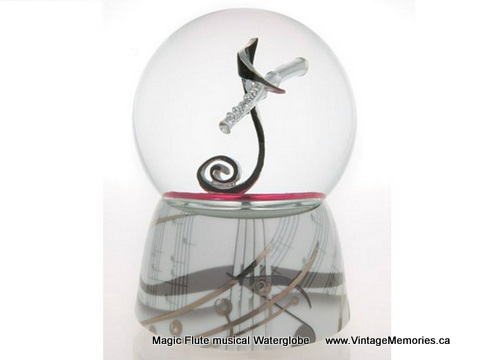 Magic Flute musical Waterglobe