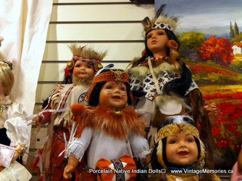 Native Indian Porcelain Dolls