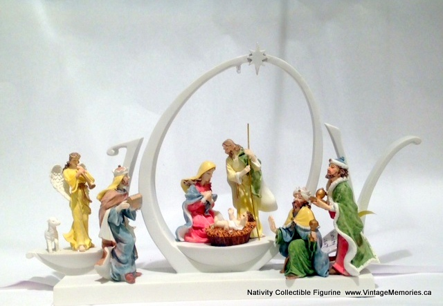 Nativity Collectible Figurine with LED Light
