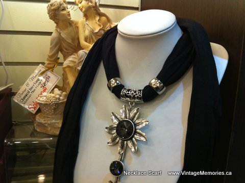 Necklace Scarf black