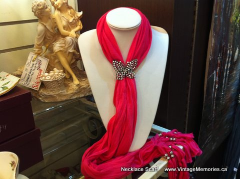 Necklace Scarf red
