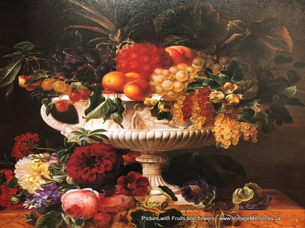 Picture with Fruits and flowers