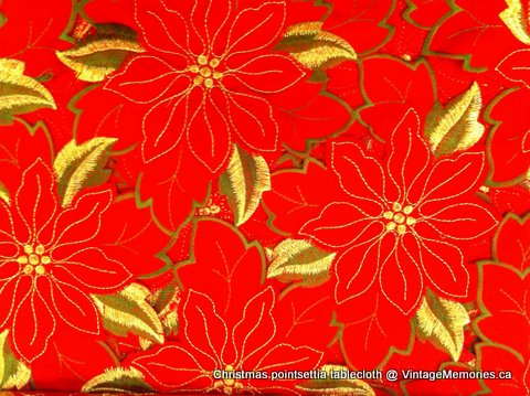 Poinsettia Xmas tablecloth