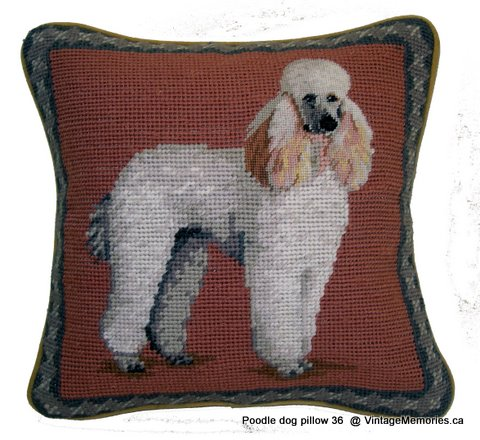 Poodle dog pillow 36-1