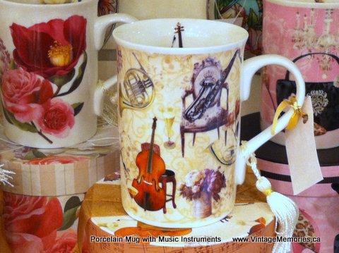 Porcelian Mug for Music Lover
