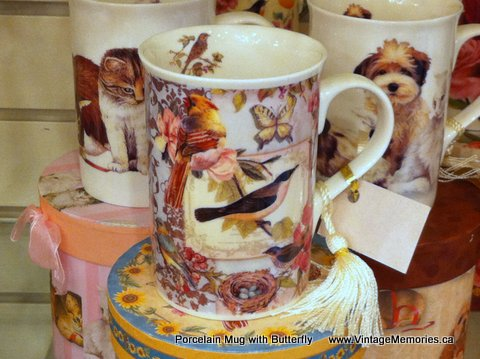 Porcelian Mug for Butterfly Lover