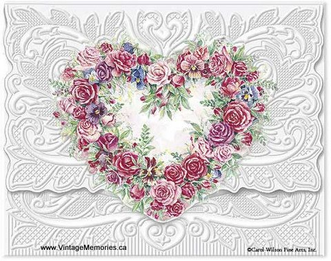Rose Heart Wreath Portfolio greeting cards