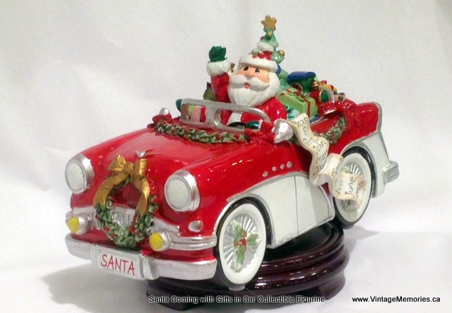 Santa Coming with Gifts in Car