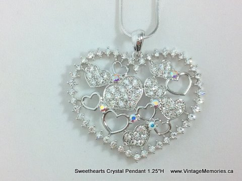Sweethearts Crystal Pendant
