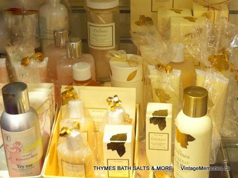 THYMES BATH SALTS and MORE Goldleaf