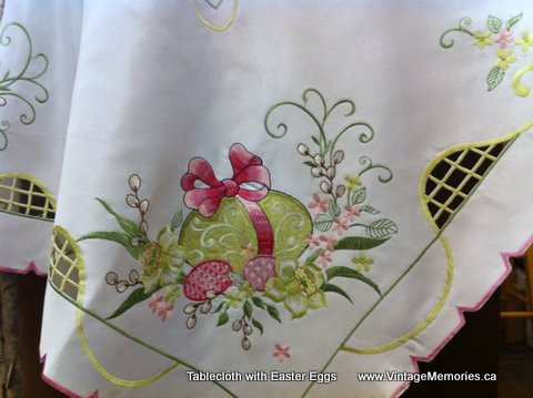 Tablecloth with Easter Eggs