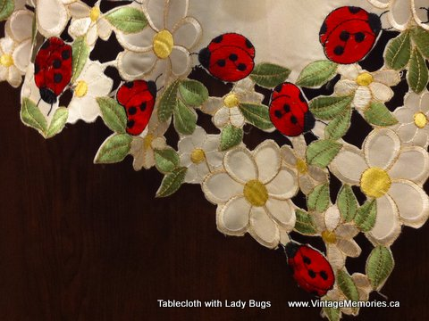 Tablecloth with Lady Bugs