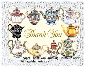 Teapot Thank You cards
