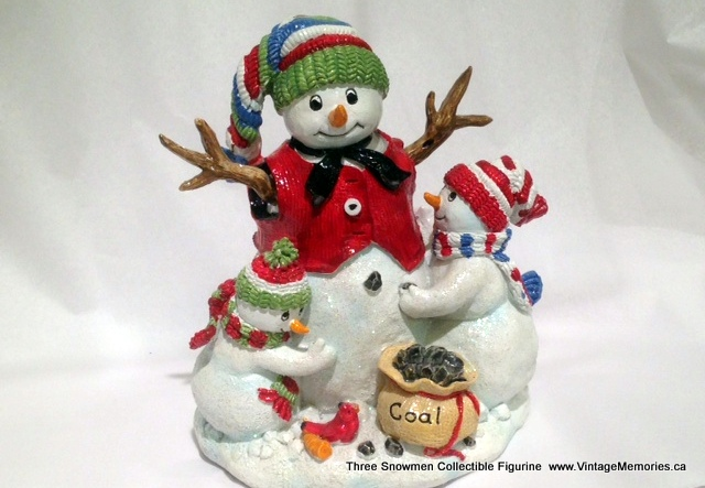 Three Snowmen Collectible Figurine.