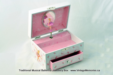 Traditional Musical Ballerina Jewellery Box
